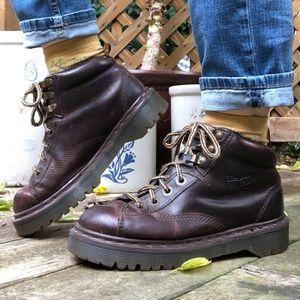 Vintage Dr Martens England Ankle Boots Brown M7 W8